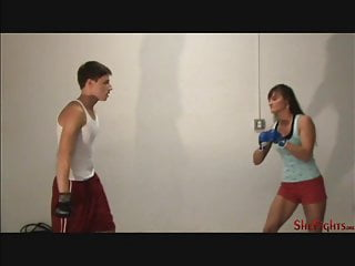 Pain off center under right breast - Cindy destroy smartass guy - painful kicks right in the face