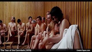 celebrity actress Britt Ekland naked and erotic movie scenes