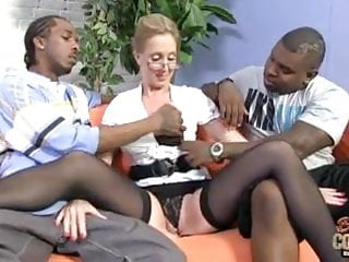 Free trailers of huge black cocks - Mature nerdy mom takes two huge black cocks