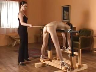Teen server caning Two beauties caned hard