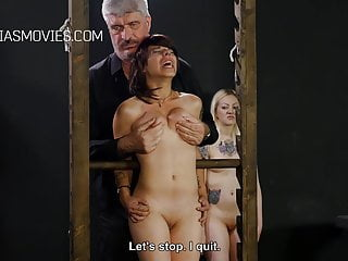 Whipped boob Cruel boob torture for the slave girls