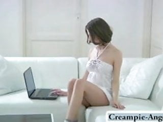First make love vagina The young vagina makes him cum