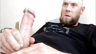 Sexy Canadian Str8 Guy with Fat Uncut Cock cums #223