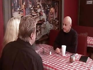 Sexy atlanta restaurants Husband gets dude to fuck his sexy blonde wife in restaurant