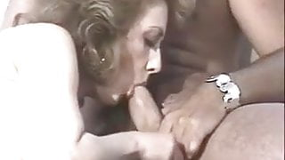 CUM OVER VERY HAIRY MATURE PUSSY