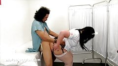 handjob Big cock wacked into a thick thighs BBW Nurse anal gape