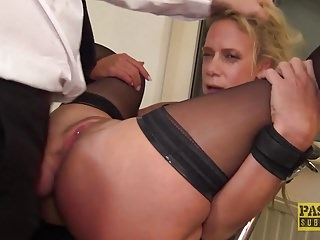 Free gay skank - British skank sasha steele throated and fucked hard in ass