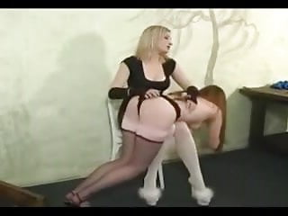 Lesbians on knees Over her knee then racked