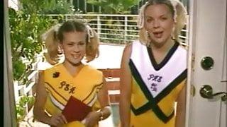 Cheerleaders Kristi and Teri Starr threesome