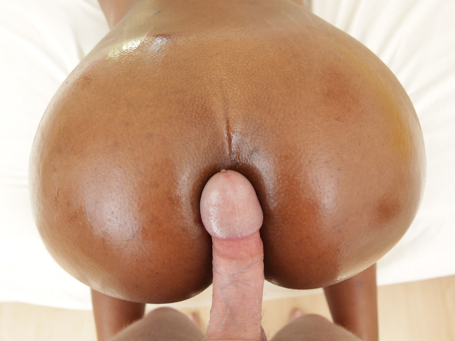 Ebony Teen Loves White Dick