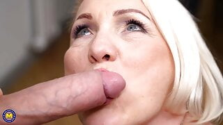 Mature housewife gets a good fuck from boy