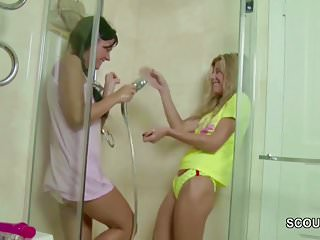 Virgins first time hardcore - Two petite virgin in first time lesbian when home alone