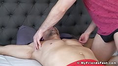 Bound and blindfolded guy endures tickling torment from dom