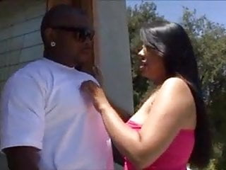 Pantyhosed ass fucking Asian girl with big boobs fucked by her black lover