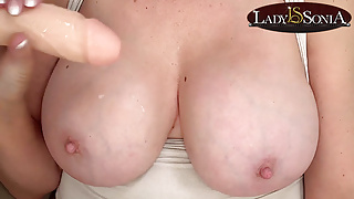 Lady Sonia wants to feel your cum drip down her body