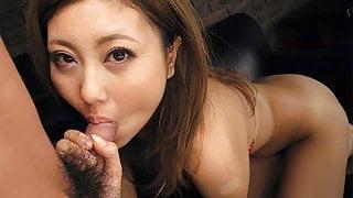 Japanese honey, Julia Shinozaki sucks dick, uncensored