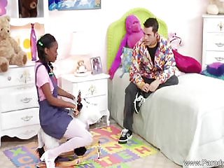 Dailymotion black teen pigtail Ebony teen with pigtails fucks white cock