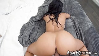Big butt babe Misty Quinn pounded by big cock in doggystyle