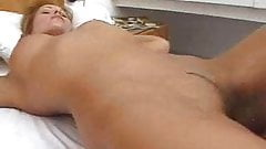 Bedroom massage leads to lesbian sex