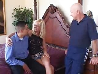Creampie mouth orgy - English blonde wife ganged on screw my wife