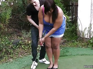 Early wrist cock no backswing golf - Ebony plumper gets pounded by golf coach