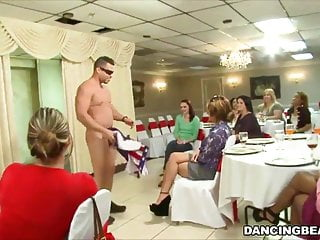 Sucking dick party - Cfnm dick sucking party with the dancing bear