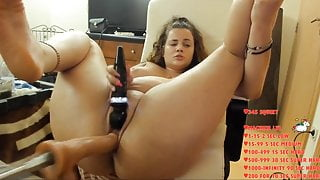 CHUBBY TEEN SHY GIRL FROM EUROPE GETS ORGASM FUCKED BY A MACHINE