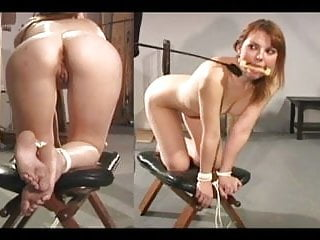Corde spank - Anal punishment bound