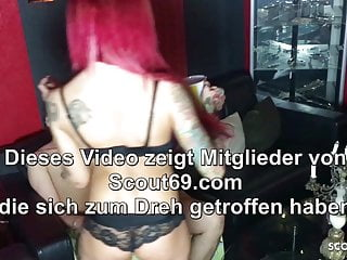Fucked in his ass by shemale German femdom domina fuck slave in his ass with monster toy