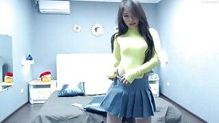 Young anime webcam model, Asian pussy, naked tits, masturbat