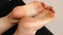 My wifes oily feet