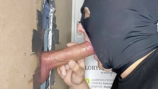 DIQSUQR - Huge straight cock drained at the gloryhole.