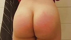 Phat Booty Twink Spanking His Jiggly Ass