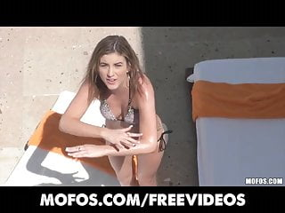 Nude sun tan - Mofos - sun-tanning katie king catches her man spying on her