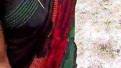 Tamil girl pressing boobs