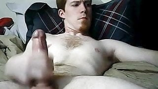 hot ginger with a thick dick shoots a load of cum