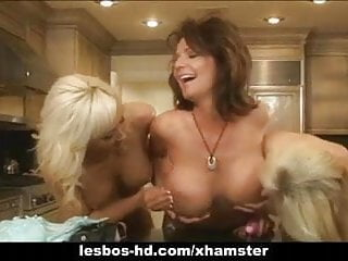 Vidio of lesbians Trio of lesbians with strap on and toys
