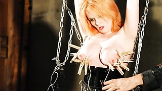 Struggling Whore Gets Suspended and Humiliated