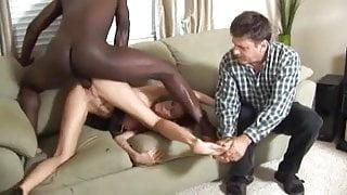 Despondent Husband watches Wife Fuck a Black Guy MC169