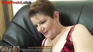 Slutty Fatty Euro mature on her first porn casting