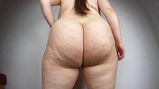 Big fat ass shaken in slow motion