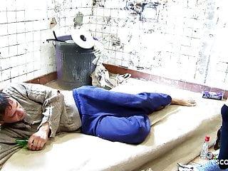 Girl fuck homeless Skinny schoolgirl fuck homeless filthy guy with big dick