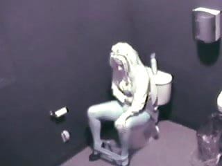 Caught masturbating voyeur Girl caught masturbating in the toilet