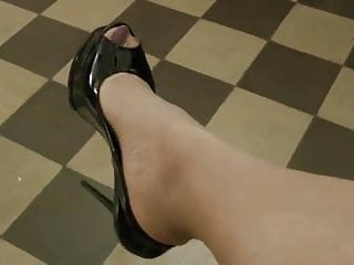 What is patent anus Black patent heels and stockings