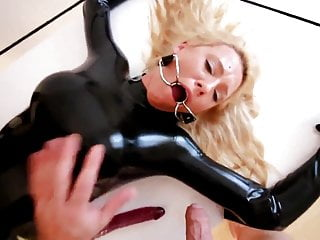 Lovely in latex Sweet german doll fucked like the latex love doll she is