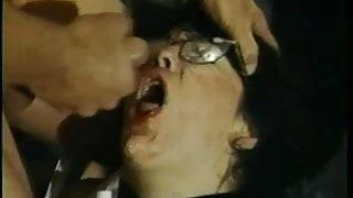 Secretary Gets Glasses Covered In Jizz