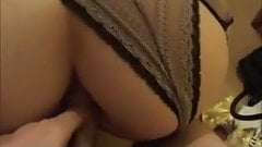 Hot french milf take it anal (homemade)