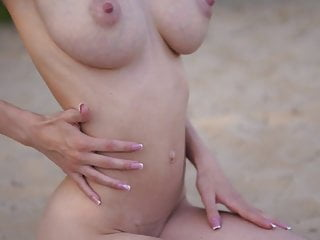 Amazing Young Redhead Helga Gray Displays Her Huge Natural