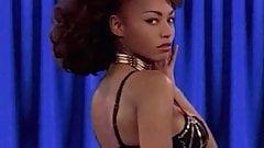 GOLDENEYE - big boobs ebony babe strip dance
