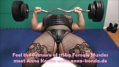 Anna Konda Muscle Pumping before a Worship Session